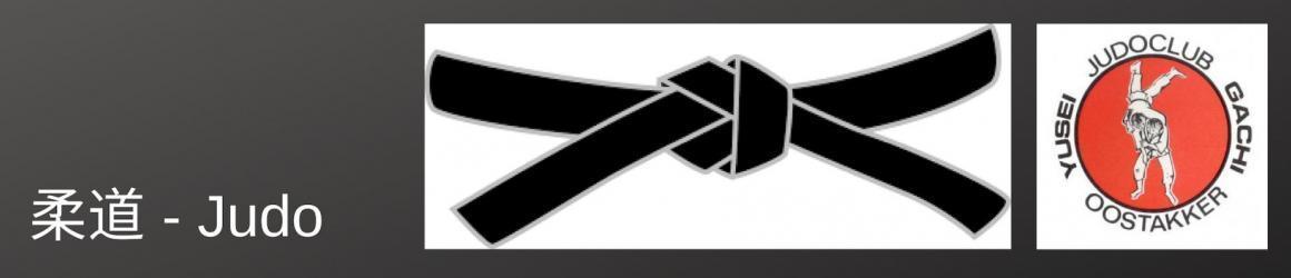 Banner van judoclub vzw JC Yusei Gachi Oostakker